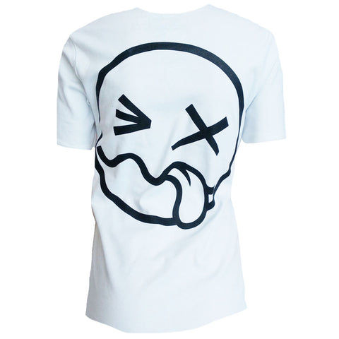 SIDE TONGUE UNISEX T-SHIRT WHITE