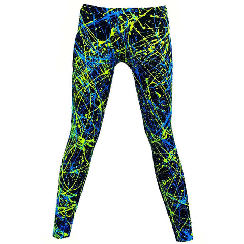 SPLAT LEGGINGS YELLOW/BLUE