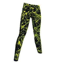 COUCHUK - UV REACTIVE - SPLAT LEGGINGS YELLOW - Clubwear - PLUR - Rave clothing
