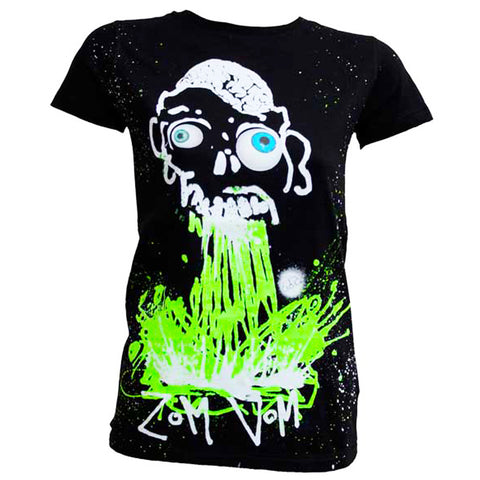 COUCHUK - UV REACTIVE - ZOM VOM WOMENS T-SHIRT - Clubwear - PLUR - Rave clothing