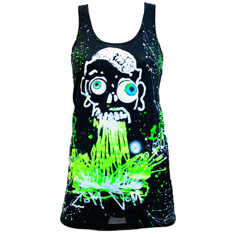 COUCHUK - UV REACTIVE - ZOM VOM T-DRESS BLACK - Clubwear - PLUR - Rave clothing