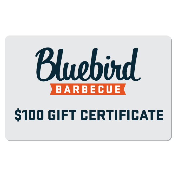 Bluebird Barbecue Gift Card $100