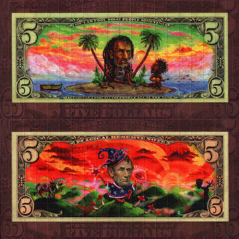 Rasta Abraham Double sided sheet by Kami- Brown version