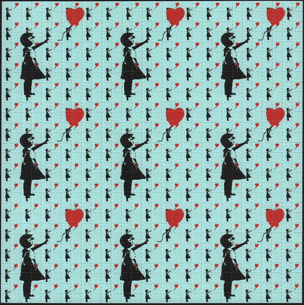 Bansky Balloon Girl Blue 9 Panel