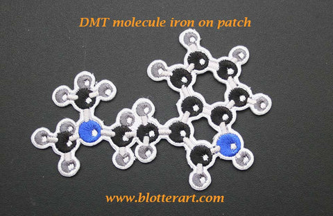 DMT Molecule Iron On Patch