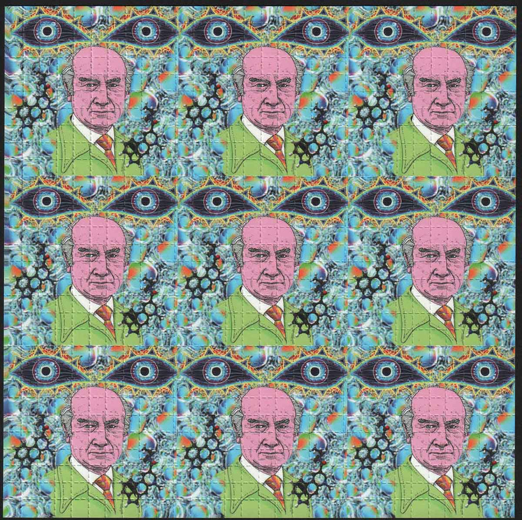 Albert Hofmann 9 panel Cartoon Blotter Art