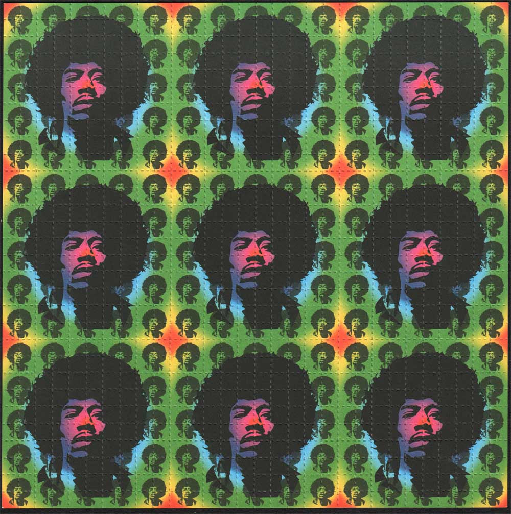Jimi Hendrix 9 panel by Monkey