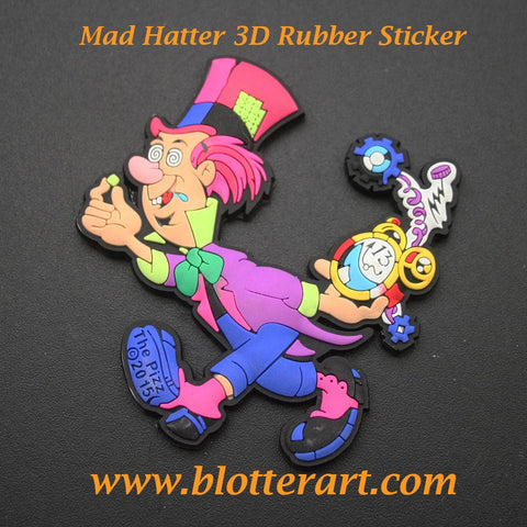Mad Hatter 3D Rubber Sticker
