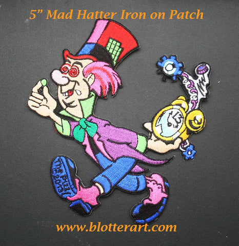 Mad Hatter Iron On Patch
