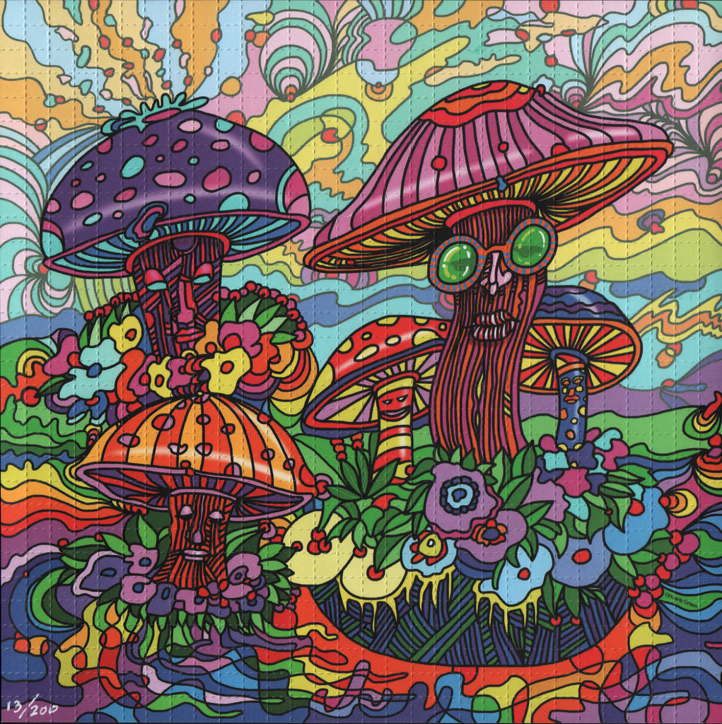 Psychedelic Mushrooms by Howie Green - Numbered edition of 200