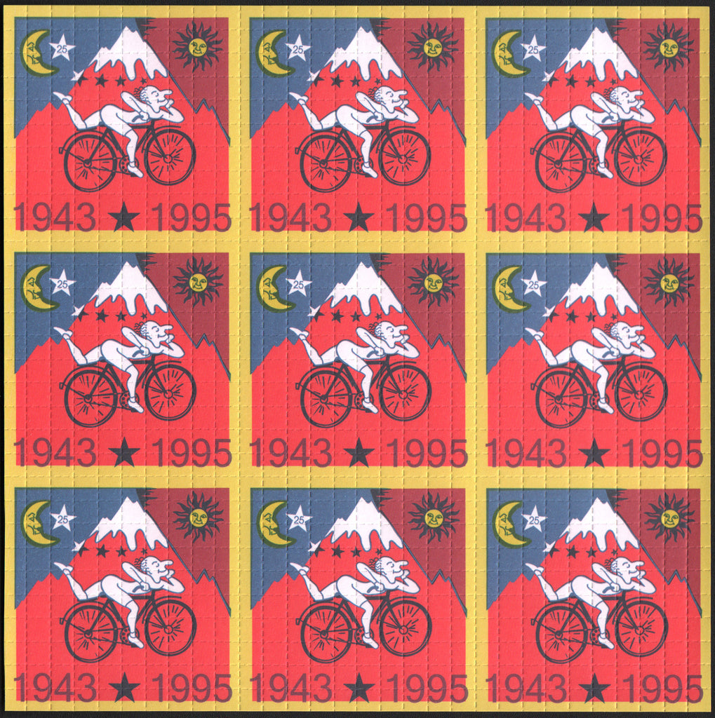 Albert Hofmann Red Bike Ride 1995 - 9 panel