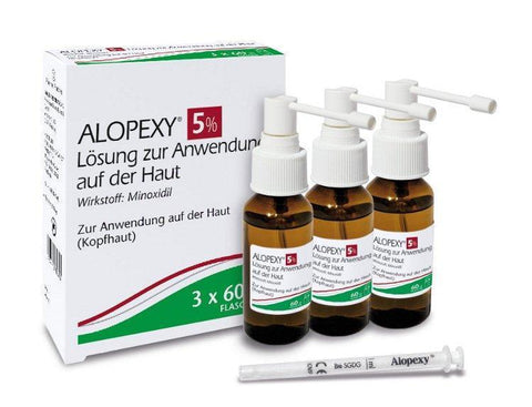 ALOPEXY 5% Minoxidil Solution For Application On The Skin 3X60ml PZN: 9374110