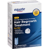 Equate Hair Regrowth für Männer Minoxidil Topical Aerosol, 5% (Schaum), 3 Flaschen