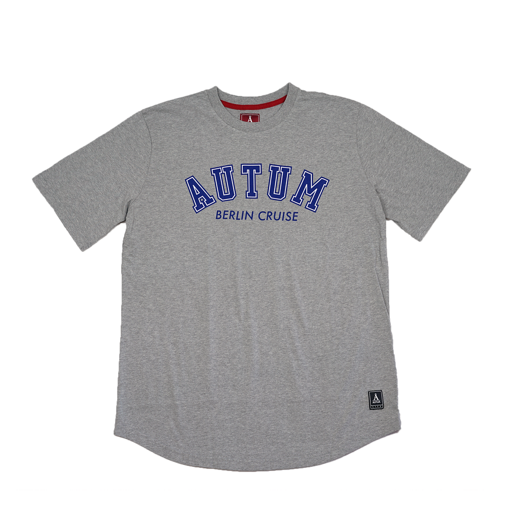 BERLIN CRUISE T-SHIRT / grey - blue/white