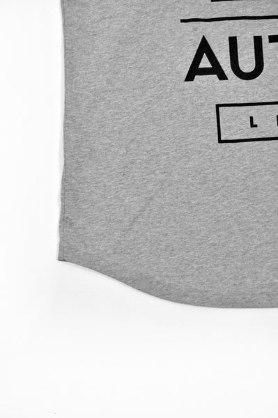 LIFE T-SHIRT / grey - black