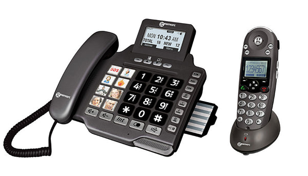 Geemarc AMPLIDECT355 Combi Amplified Telephone With Extra Cordless Handset
