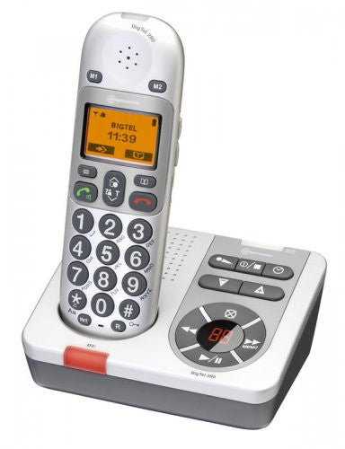 Amplicomms BigTel 280 Big Button Amplified Cordless Telephone with Integrated Answering Machine