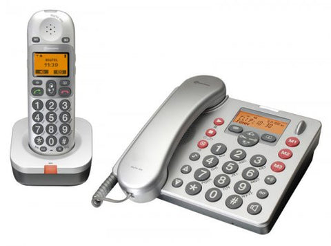 Amplicomms BigTel 480 Combination Big Button Amplified Desk Telephone and Cordless Telephone