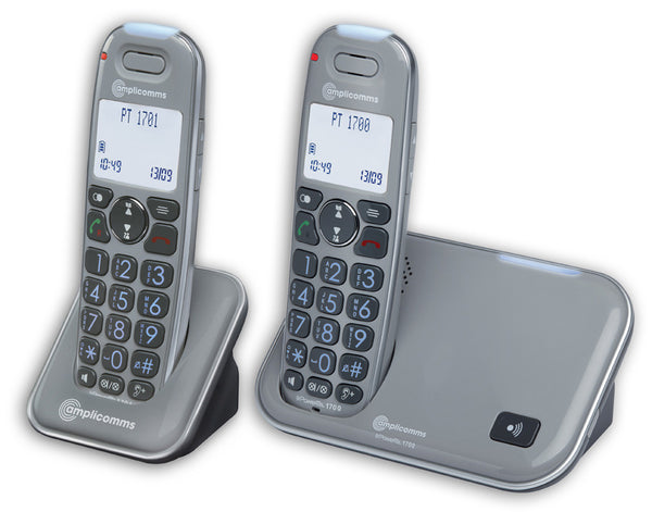Amplicomms PowerTel 1702 Cordless Amplified DECT Telephone with Extra Handset