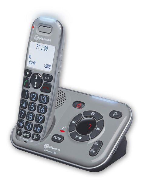 Amplicomms PowerTel 1780 Cordless Amplified DECT Telephone with Answering Machine