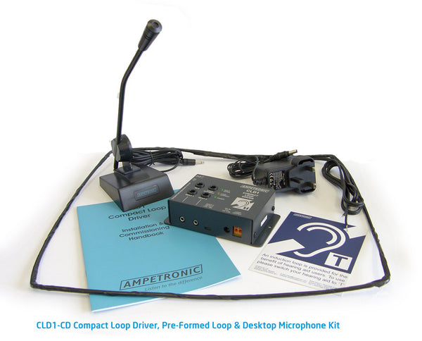 Ampetronic CLD1-CD Counter Induction Loop with Desktop Microphone