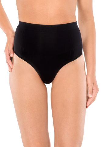 SCHIESSER Highwaist-String Seamless schwarz - Seamless Power