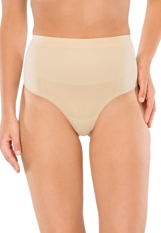 SCHIESSER Highwaist-String Seamless nude - Seamless Power