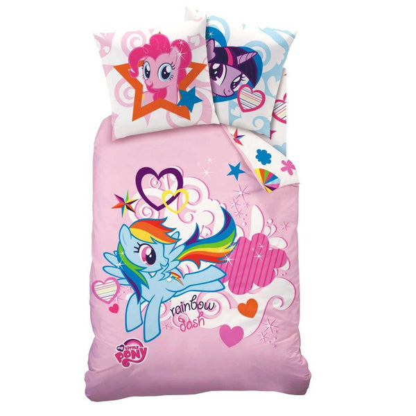 Kinderbettwäsche Set, Leinen My Little Pony 140 x 200 cm /  63 x 63 cm