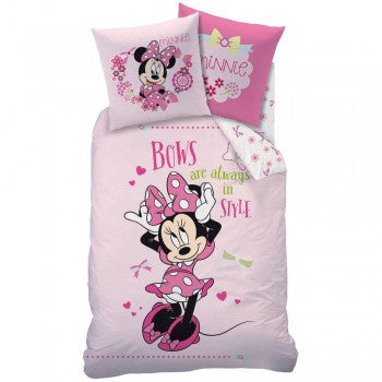 Kinder Bettwäsche Set, Disney Minnie 140 x 200 cm, 63 x 63 cm