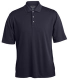 Men's Grid Texture Polo by Pebble Beach