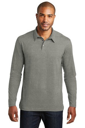 Meridian Cotton Blend Long Sleeve Polo