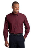 Men's Crosshatch Easy Care Long Sleeve Shirt