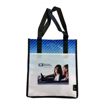 Laminated Striped Tote Bag - Set of 10