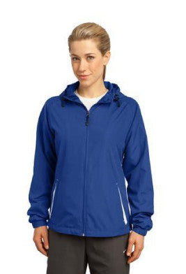 Ladies Colorblock Hooded Jacket