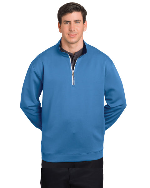 Men's 1/4 Zip Contrast Zipper Pullover by Pebble Beach