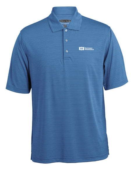 Men's Tonal Stripe Polo by Pebble Beach