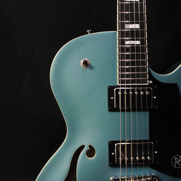 Reverend Pete Anderson PA-1 HB Custom w/ Case - Satin Deep Sea Blue