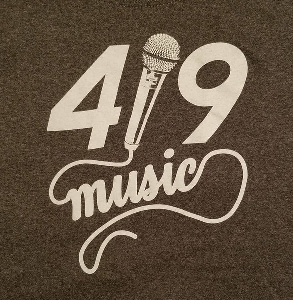 Crutch Wear 419 - 419 Music w/ Mic Tee Shirt - Heather Grey