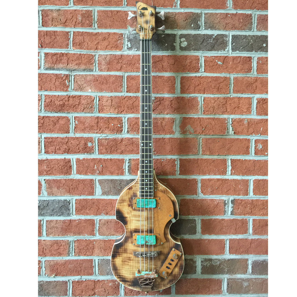 Ratfiddle Custom Built Burned and Rusted Beatle Bass