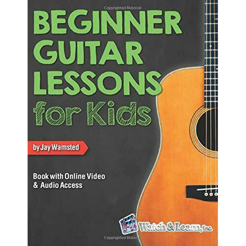 Watch & Learn Beginner Guitar Lessons for Kids Book with Online Video and Audio