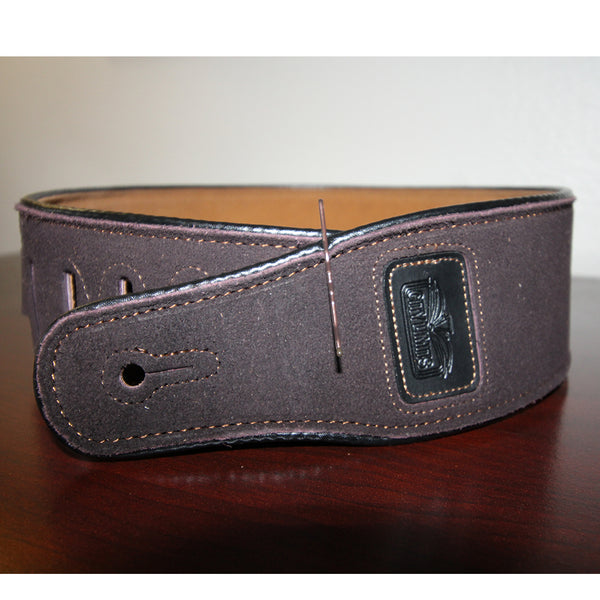 City Limits Faux Suede Leather Guitar Strap