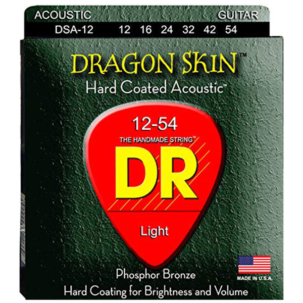 DR Dragon Skin Clear Coated Acoustic Strings - Light - 12-54
