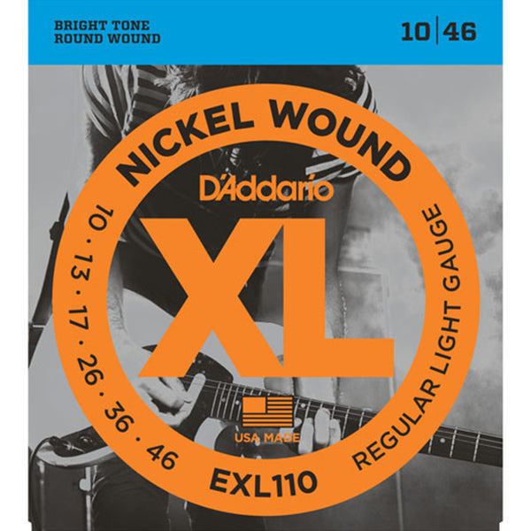 D'Addario EXL110 Nickel Wound Electric Guitar Strings - 10-46