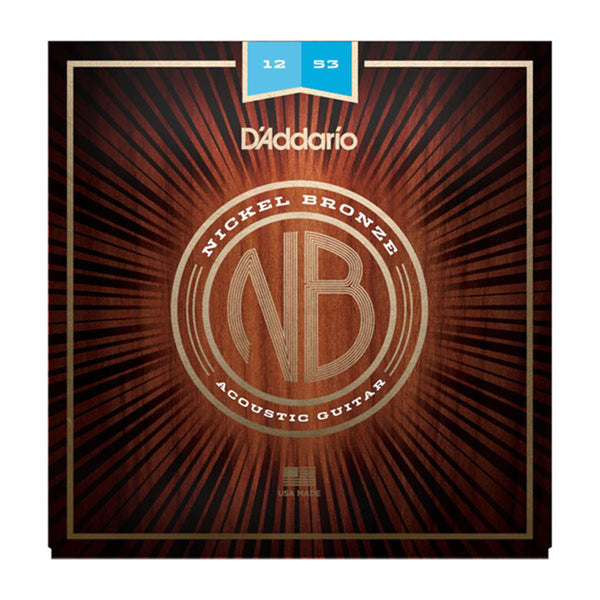 D'Addario NB1253 Nickel Bronze Acoustic Guitar Strings - Light - 12-53