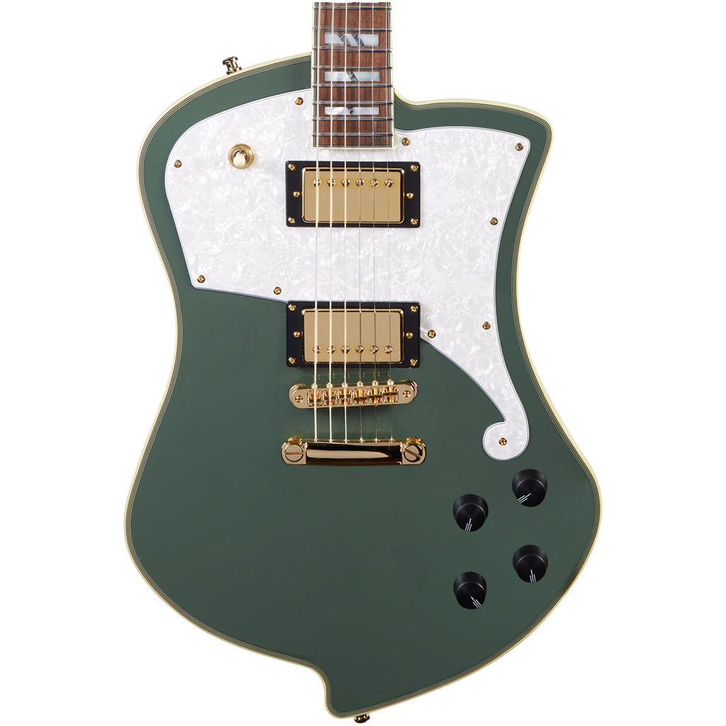 D'Angelico Deluxe Ludlow w/ Case - Army Green