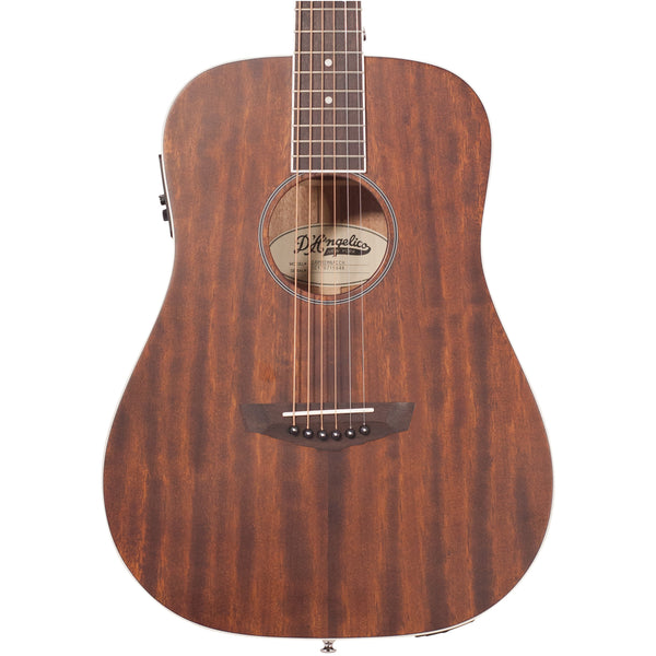 D'Angelico Premier Niagara Mini Acoustic - Natural Mahogany