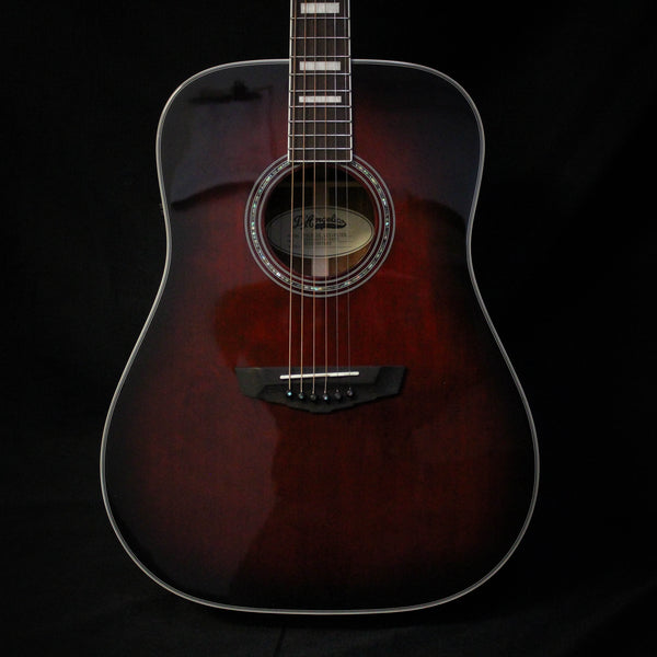 D'Angelico Premier Lexington Acoustic Guitar - Trans Black Cherry Burst