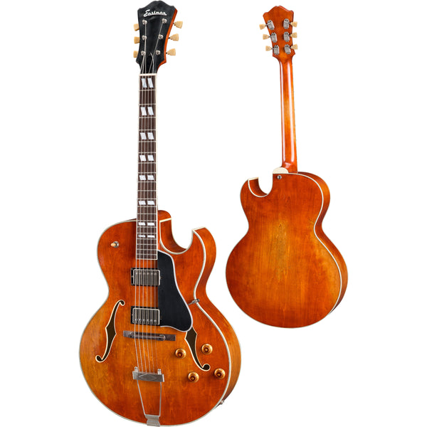 Eastman T49D/v-AMB Archtop Electric Guitar - Amber Finish