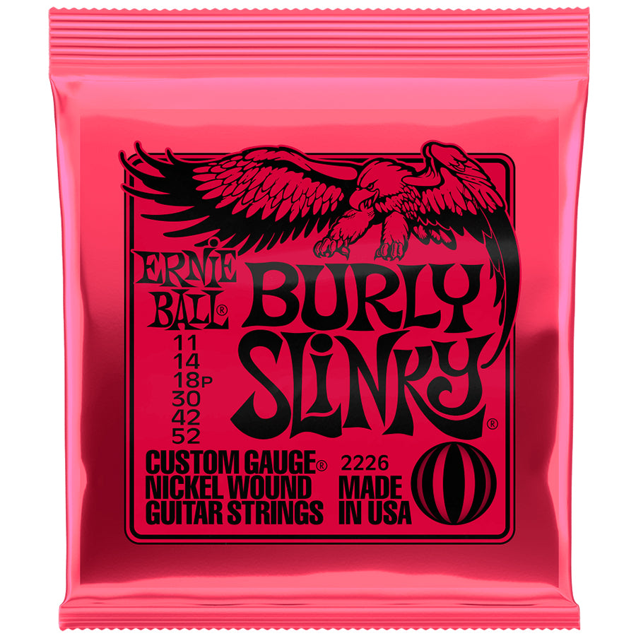 Ernie Ball Burly Slinky Nickel Wound Electric Guitar Strings