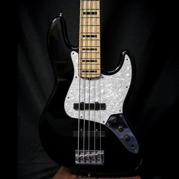 Used 2012 Fender American Deluxe Jazz Bass V w/ Case - Black 010420
